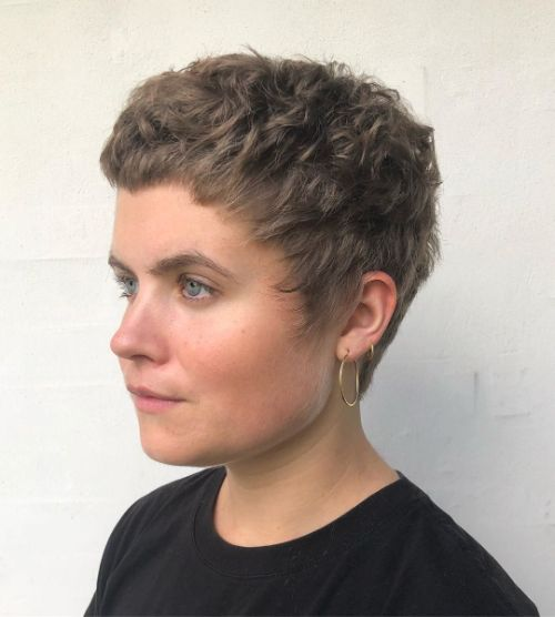 Curly Textured Pixie Cut