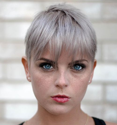 Edgy Pearl Blonde Crop for Thin Hair