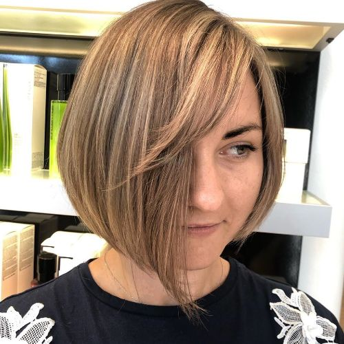 Slimming Asymmetrical Bob with Side Bangs