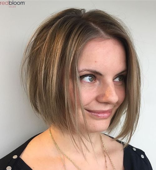 Chic A-Line Bob for a Round Face Shape