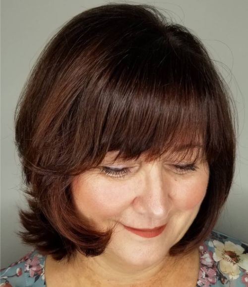 Rich Chocolate Bob for Older Women