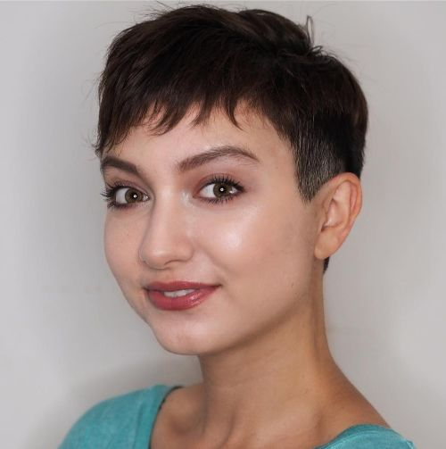 Feathered Pixie with Extra Short Sides