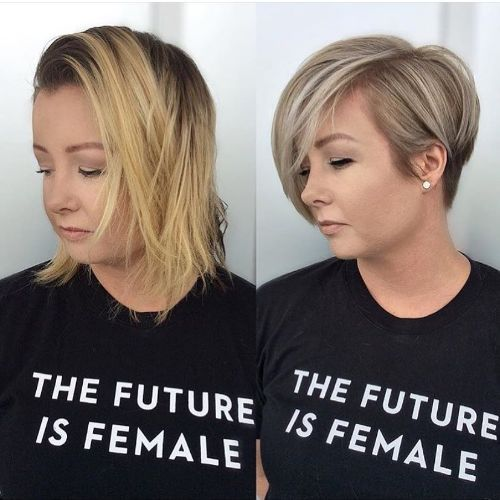 Pixie Bob for Thick Hair and a Round Face