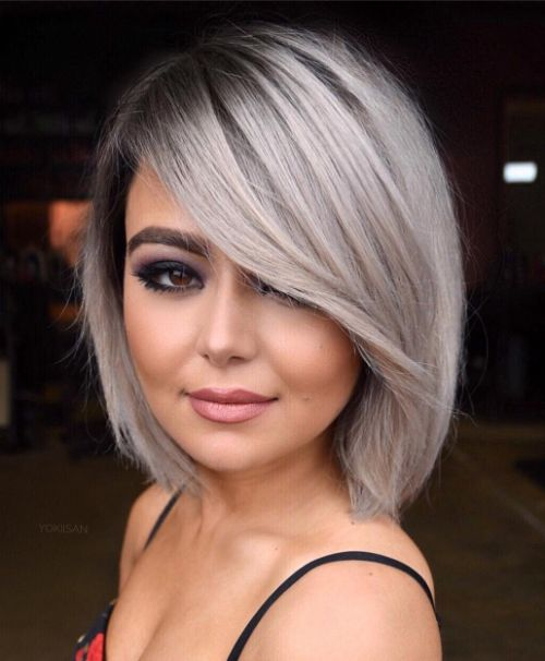 Gray Bob with Peek-a-Boo Bangs